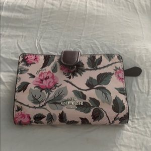 Coach flowered wallet